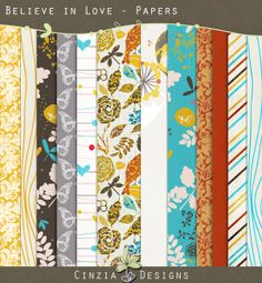 Believe In Love Papers by Cinzia Designs at Oscraps