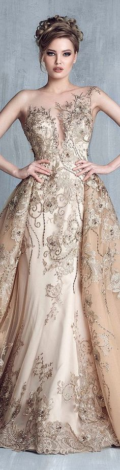 Tony Chaaya 2018 Evening Dresses With Detachable Train Champagne Beads Mermaid Prom Gowns Lace Applique Sleeveless Luxury Party Dress Tony Chaaya 2017 Evening Dresses With Detachable Train Champagne Beads Mermaid Prom Gowns Lace Applique. Elegant Dresses, Pretty Dresses, Women's Dresses, Formal Dresses, Wedding Dresses, Dresses 2016, Prom Gowns, Summer Dresses, Style Couture