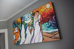Please take a look at my nephew's work  website www.alittleguilty.com  Live wedding day art...