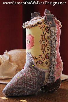 Cowboy Boot Pincushion Pattern