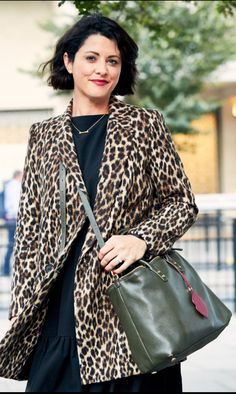 7b82f5360e Leopard print coat from Zara with dress from Wolf and Badger with Lulu  Guinness Bag Qvc