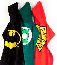 Hooded superhero towels