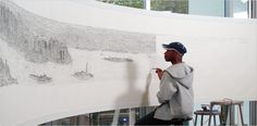 Stephen Wiltshire draws NYC skyline from memory