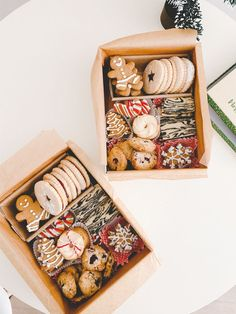 Christmas Cookie Boxes, Christmas Cookies Packaging, Christmas Sweets, Christmas Cooking, Noel Christmas, Holiday Cookies, Diy Cookie Packaging, Café Brunch, Mery Chrismas