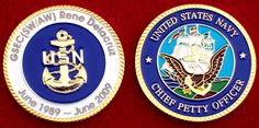 Retirement coins for people who participated in the ceremony Military Retirement Parties, Retirement Celebration, Retirement Ideas, Military Crafts, Military Challenge Coins, Retirement Decorations, Navy Chief, Party Central, Military Life