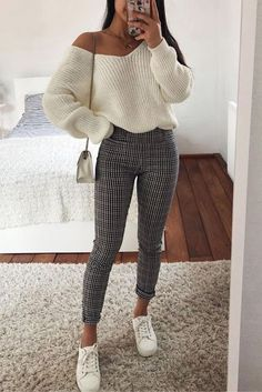 31 sweet fall styles for women winter fashion 2019 - Christine, . - 31 sweet fall styles for women winter fashion 2019 – Christine, … – FASHION - Winter Fashion Outfits, Look Fashion, Spring Outfits, Trendy Fashion, Trendy Style, Autumn Outfits Women, Cute Fashion, Ootd Spring, Spring Fashion