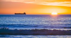 Rosarito by Enrique Bosquet on - Baja California, Mexico Amber Sky, Rosarito Beach, Best Sunset, California Dreamin', Travel Usa, Sunsets, Travelling, Sunrise, Beautiful Places