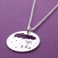 Personalized Jewelry  Rain Cloud Umbrella by EclecticWendyDesigns, $50.00