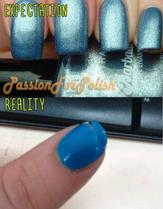 Glossy Blue Manicure.