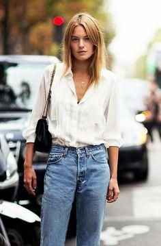 shirt chic. #CamilleRowe in Paris.