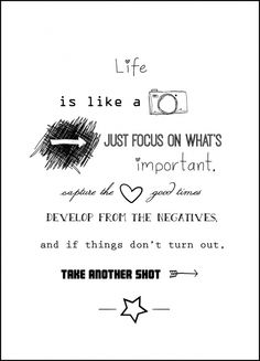 Life is like a camera | Quote