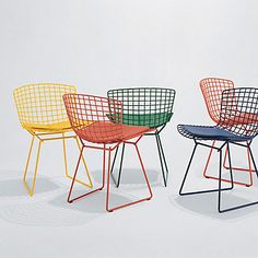 Show details for Bertoia Side Chair with Seat Pad