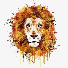 Shop for lion art from the world's greatest living artists. All lion artwork ships within 48 hours and includes a money-back guarantee. Choose your favorite lion designs and purchase them as wall art, home decor, phone cases, tote bags, and more! Watercolor Lion Tattoo, Watercolor Pictures, Watercolor Animals, Watercolor Portraits, Abstract Watercolor, Watercolor Paintings, Painting Abstract, Dandelion Painting, Drawing Portraits