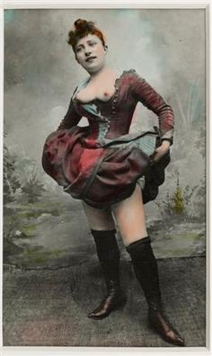 La Goulue , Louise Weber , The Queen of Montmartre - c. 1896 - Hand Tinted Photograph - @~ Mlle