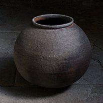 Nancy Fuller  Scotland.  anagama-fired moon jar