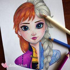 Artista fusiona a personajes de Disney, el resultado es hermoso Disney Drawings Sketches, Disney Art Drawings, Disney Drawings, Easy Disney Drawings, Art Drawings, Art Drawings For Kids, Disney Princess Drawings, Disney Paintings, Cute Cartoon Drawings