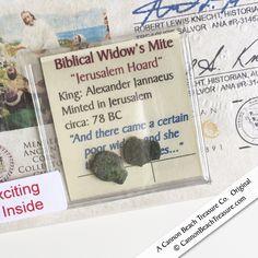 Biblical Bronze Widow's Mite 2 Pack Circa 78 BC