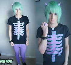 undead-unicorn:  vaynexheart:  dyed my hair mint and re-cut my hair into a better hair style which I'm loving ^.^ kawaii lavender/lilac demo...