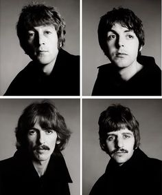 Iconic shot of the Beatles, by Richard Avedon.