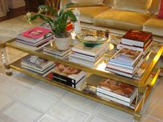 Harrison Coffee table in bronze by Jan Showers...filled with...what else???