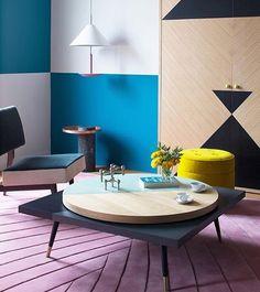 ECLECTIC DESIGN 💕🎉🦋✨💕🎉🦋✨💕🎉🦋✨ @maisondada @alexandrapublicrelations @thomas.dariel  #maisondada lazy susan coffee table in ceyladon green color. #interiordesign #thomasdariel #parisshanghai #yellow #coffeetable #parisapartment #parisian #artdevivre #interior #elledecor #editorspick #coffeetable #colour #eclectic #colourful #instapic #designer #geometric #blue #pink #instagood #mood ✨🎉💗🙏✨🎉💗🙏