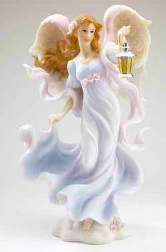 Seraphim Classics Aurora Light in the Storm Angel Holding Lantern Figure Seraph Angel, Bride Dolls, Lanterns, Sculptures, Disney Princess, Classic, Morning Flowers, Pictures, Statues