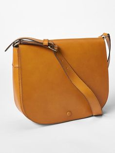 Leather saddle crossbody Product Image