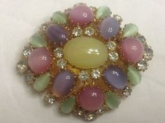 Gorgeous Pastel Givre Glass Brooch A Rainbow by SweetBettysBling, $60.00
