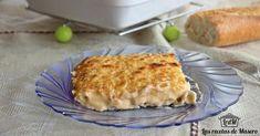Canelones de brandada de bacalao con bechamel de escalivada Bechamel, Quiche, Macaroni And Cheese, Breakfast, Ethnic Recipes, Food, Snacks, Cooking Recipes, Drinks
