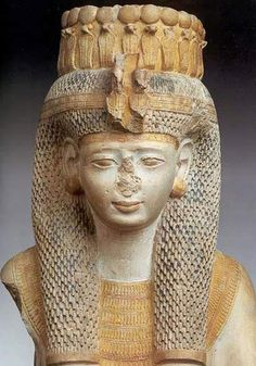 """Princess Meritamun, """"the White Queen""""This statue was discovered in 1896 in a chapel north-west of the Ramesseum in Thebes.  It is master piece of its period and demonstrates the sensitive nature of the artist.  On the death of Nefertari (some time after the 21st year of the Ramesses' reign) she took on the role of the Great Royal Wife."""