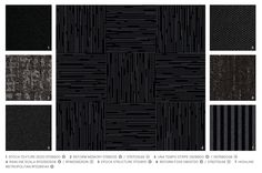 Rawline Scala black hues mixed and matched with other ege carpet designs #mixandmatch #black