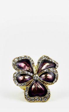Purple pansy pin