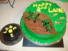 John Deere Farming Cake--And making something like this for our other birthday boy!