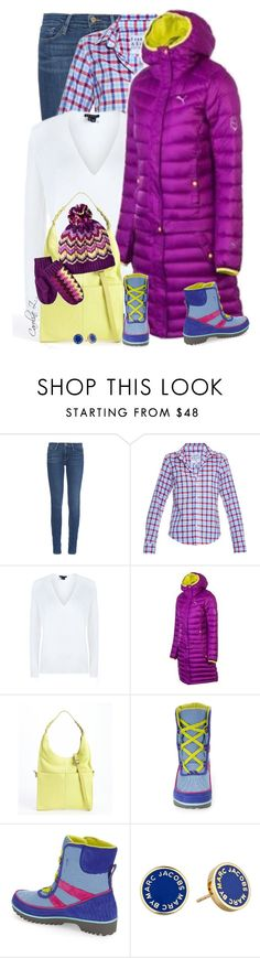"""""""Go Bright for Winter!"""" by carolinez1 ❤ liked on Polyvore featuring Frame Denim, Frank & Eileen, Olivia Harris, SOREL, Marc by Marc Jacobs, Missoni, women's clothing, women's fashion, women and female"""