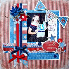 A great layout honoring the meaning of Memorial Day by Patti Hamil.