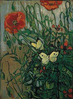 Vincent van Gogh. Butterflies and Poppies, 1890