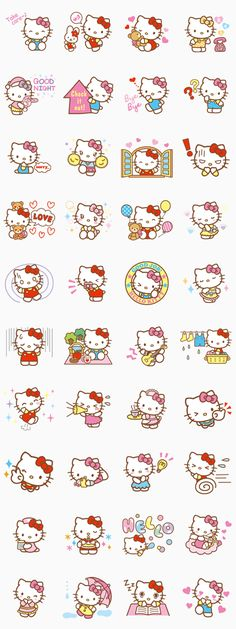 Hello Kitty (Happy Days ver.)[TH] - Sticker Line Thailand : Inspired by LnwShop.com