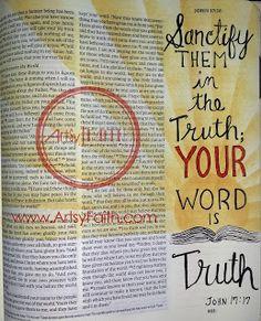 Artsy Faith | John 17:17 Bible Art Journaling