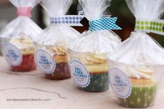 Cute cupcake packaging & tag