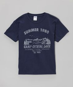 Take a look at this Navy 'Camp Crystal Lake' Tee - Kids on zulily today!