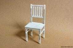 Miniature Chair, Miniature Furniture, Miniature Dolls, White Wood, Ivory White, Pure White, Mini Doll House, Shabby Chic Style, Rustic Farmhouse