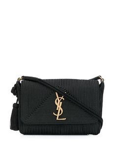Shop Saint Laurent Monogram tassel bag f3ec45356742c