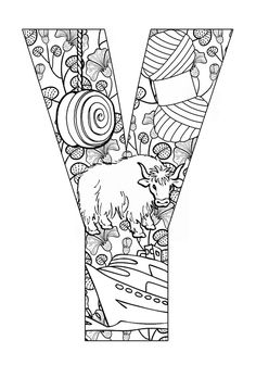 Y Coloring Pages ... | Free printable coloring pages, Start with and Coloring pages