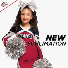 Bring your spirit and your style together! Design a unique look for your team from hundreds of color and design combinations. With double knit and performance fabric options, one of a kind uniforms and practice wear are now available to all cheerleaders. Cheer Team Pictures, Cheerleading Uniforms, Team Wear, Double Knitting, Your Style, Football, Unique, How To Wear, Color