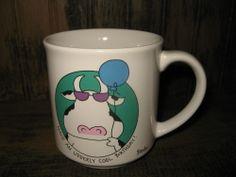 "BOYNTON Birthday COW Mug Coffee Cup ""Udderly Cool"" by Sandra Boynton 1991"