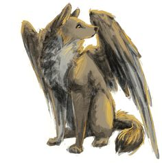 Hainu- Japanese folklore: a winged dog