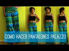 DIY PANTALONES PALAZZO EN 20MIN | COSTURA MUY FACIL! - YouTube Hooded Cloak, Yellow Maxi, Wool Cape, Wide Pants, Cotton Pants, Diy Clothes, Tie Dye Skirt, Pants For Women, Blog