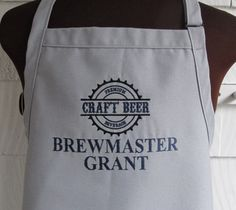 Personalized Beer Apron for Grilling - Father's Day