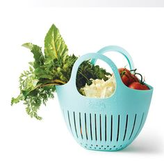 Avon Living Hutzler Garden Colander Bag | Collect, carry, clean. This small garden colander is perfect for collecting delicate berries, tomatoes, herbs, and flowers from your backyard garden or farmers market. Rinse everything at once with the garden hose or bring them to the kitchen sink and wash everything right there in the bag. FEATURES • Sea foam green colander bag with handles • Bottom perforations to... ~ Avon Lady Beth Bailey ~ Avon eStore LipstickShoesAndMore.com