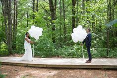 First Look using bunches of balloons!